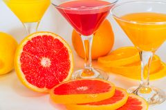Fruit juice from citrus Stock Photo