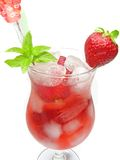 Fruit juice cold drink with strawberry Royalty Free Stock Image