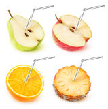 fruit juice collection stock images