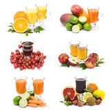 Fruit juice and fresh fruits Royalty Free Stock Image