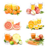 Fruit juice and fresh fruits Stock Image