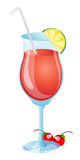 Fruit juice glass Royalty Free Stock Photo