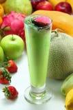 Fruit Juice. A glass of colorful fruit juice Stock Photo
