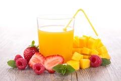 Fruit juice. Glass of fresh fruit juice Royalty Free Stock Image