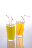 Fruit juice in glasses Stock Image