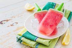 Fruit juice ice pops Stock Photos