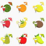 Fruit Juice Icon Stock Photos
