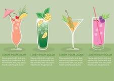 Fruit Juice Infographic vector illustratie