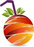 Fruit juice logo. Illustration art of a fruit juice logo with isolated background Stock Image
