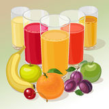 Fruit and juice Stock Photography