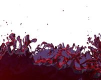 Red juice splashing motion fruity purple liquid splash 3D illustration. Fruit juice splash red fruity liquid splashing 3D illustration vector illustration