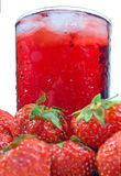 Fruit Juice with Strawberry Royalty Free Stock Photography