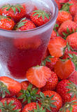 Fruit Juice with Strawberry Royalty Free Stock Images