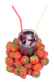 Fruit Juice with Strawberry Royalty Free Stock Photos