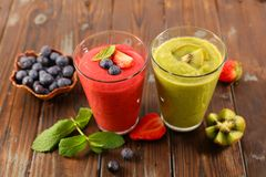 Fruit juice for summer. Smoothie, fruit juice for summer royalty free stock images