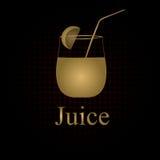 Fruit juice symbols Royalty Free Stock Images