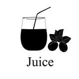 Fruit juice symbols Stock Image