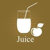 Fruit juice symbols Stock Images