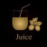 Fruit juice symbols Royalty Free Stock Image
