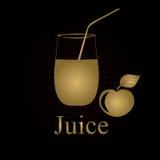 Fruit juice symbols Stock Photos