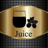 Fruit juice symbols -  illustration label concept menu. Stock Photos