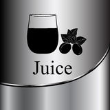 Fruit juice symbols -  illustration label concept menu. Royalty Free Stock Photos