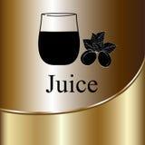 Fruit juice symbols -  illustration label concept menu Royalty Free Stock Images