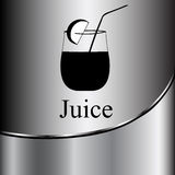 Fruit juice symbols -  illustration label concept menu Stock Photo