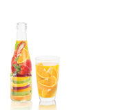 Fruit juice vitamin bottle Royalty Free Stock Image
