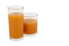 Fruit juice on white Royalty Free Stock Photography