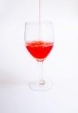 Fruit juice on white background. Pouring Karonda Fruit juice on white background Royalty Free Stock Photos
