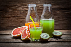Fruit and juice. Royalty Free Stock Photography