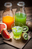 Fruit and juice. Royalty Free Stock Images