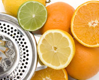 Fruit and juicer background Royalty Free Stock Image