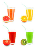 Fruit juices Stock Image