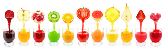 Fruit juices Royalty Free Stock Photos