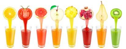 Fruit juices Stock Photos
