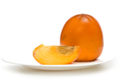 Fruit juicy persimmons Stock Image