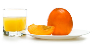 Fruit juicy persimmons Royalty Free Stock Photography