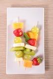 Fruit kabob Royalty Free Stock Images