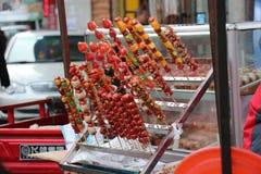 Fruit in karamel royalty-vrije stock foto's