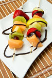 Fruit Kebab Stock Photography