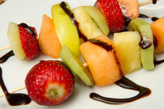Fruit Kebab Stock Photo