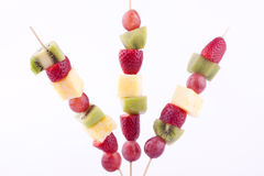 Fruit kebab Royalty Free Stock Image