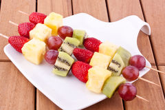 Fruit kebab Stock Photos