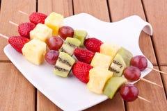 Fruit kebab Stock Photos