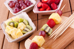 Fruit kebab Royalty Free Stock Photos