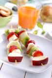 Fruit kebabs Stock Image