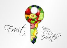 Fruit Key to Health Royalty Free Stock Photography