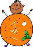 Fruit Kid Royalty Free Stock Photos